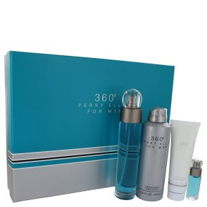 perry ellis 360 by Perry Ellis Gift Set -- 3.4 oz Eau De Toilette Spray + .25 oz Mini EDT Spray + 6.8 oz Body Spray + 3 oz Shower Gel Men