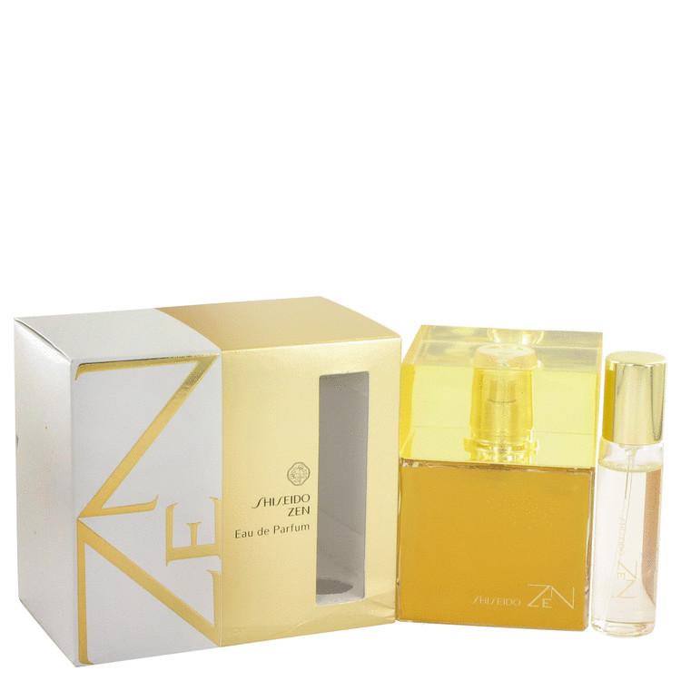 Zen by Shiseido Eau De Parfum Spray with .5 oz Mini EDP Spray 3.4 oz Women