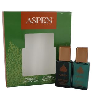 ASPEN by Coty Gift Set -- Two 1.7 oz Cologne Sprays Men