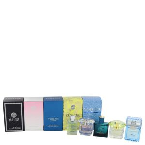 Bright Crystal by Versace Gift Set -- The Best of Versace Men's and Women's Miniatures Collection Includes Versace Eros