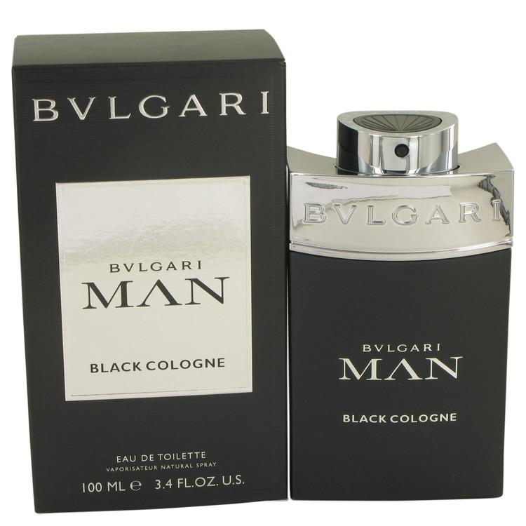 Bvlgari Man Black Cologne by Bvlgari Eau De Toilette Spray 3.4 oz Men