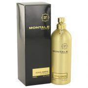Montale Aoud Ambre by Montale Eau De Parfum Spray (Unisex) 3.4 oz Women