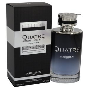 Quatre Absolu De Nuit by Boucheron Eau De Parfum Spray 3.3 oz Men