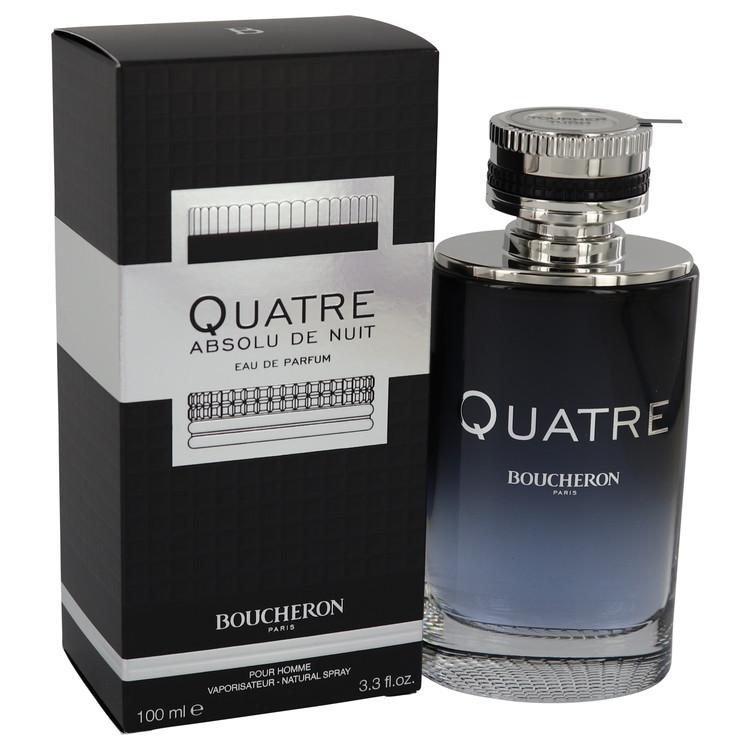 Quatre Absolu De Nuit by Boucheron Eau De Parfum Spray 3.3 oz Men