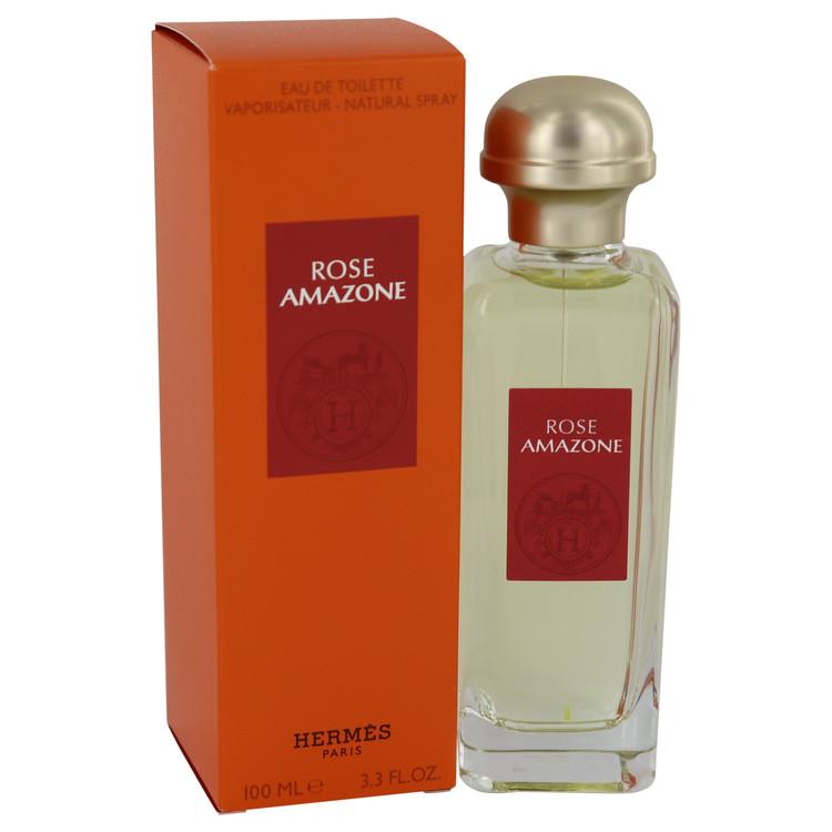 Rose Amazone by Hermes Eau De Toilette Spray 3.3 oz Women
