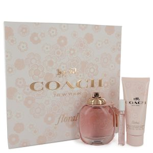 Coach Floral by Coach Gift Set -- 3 oz Eau De Parfum Spray + .25 oz Mini EDP Spray + 3.3 oz Body Lotion Women