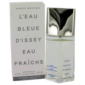 L'EAU BLEUE D'ISSEY POUR HOMME by Issey Miyake Eau De Fraiche Toilette Spray (Tester) 2.5 oz Men