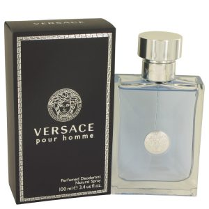 Versace Pour Homme by Versace Deodorant Spray 3.4 oz Men