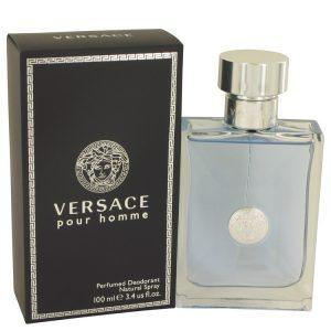 Versace Pour Homme by Versace Deodorant Spray 3.4 oz Men