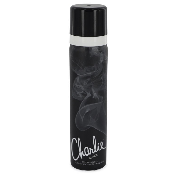 Charlie Black by Revlon Body Fragrance Spray 2.5 oz Women