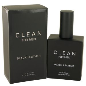 Clean Black Leather by Clean Eau De Toilette Spray 3.4 oz Men