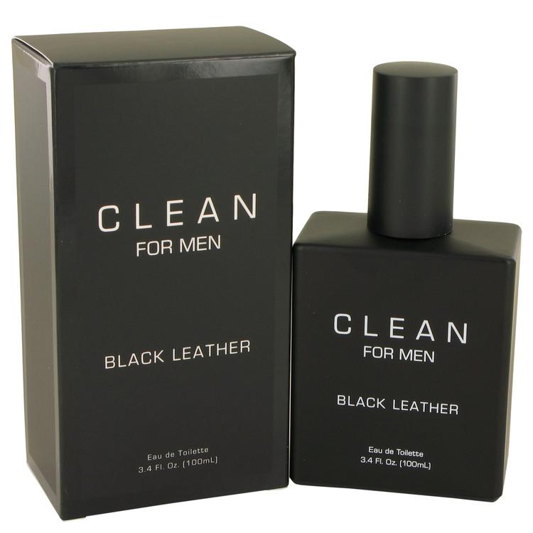 Clean Black Leather by Clean Eau De Toilette Spray 3.4 oz Men