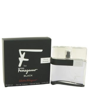 F Black by Salvatore Ferragamo Eau De Toilette Spray 3.4 oz Men