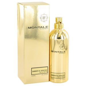 Montale Amber & Spices by Montale Eau De Parfum Spray (Unisex) 3.3 oz Women