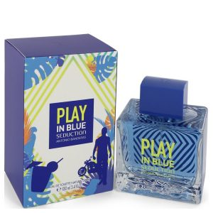 Play in Blue Seduction by Antonio Banderas Eau De Toilette Spray 3.4 oz Men