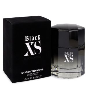Black XS by Paco Rabanne Eau De Toilette Spray (2018 New Packaging) 3.4 oz Men