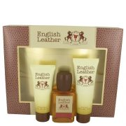 ENGLISH LEATHER by Dana Gift Set -- 3.4 oz Cologne Body Spash + 2 oz After Shave Balm + 2.5 oz Body Wash Men