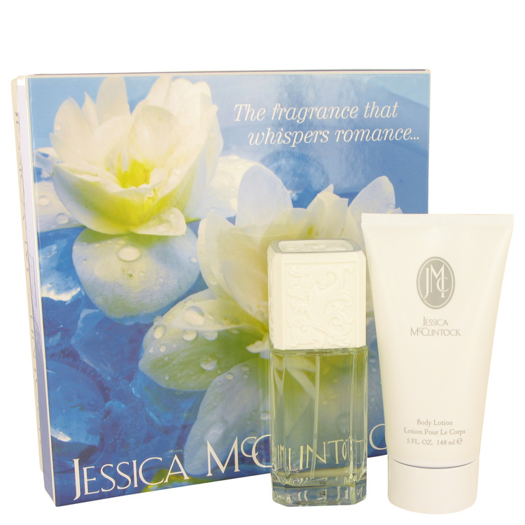 JESSICA Mc CLINTOCK by Jessica McClintock Gift Set -- 3.4 oz Eau De Parfum Spray + 5 oz Body Lotion Women