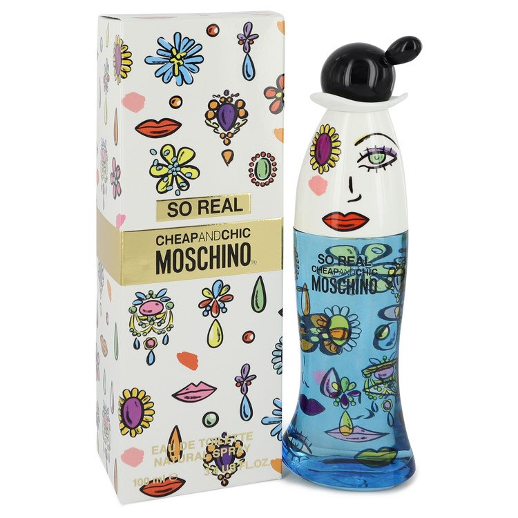 Cheap and Chic So Real by Moschino Eau De Toilette Spray 3.4 oz Women