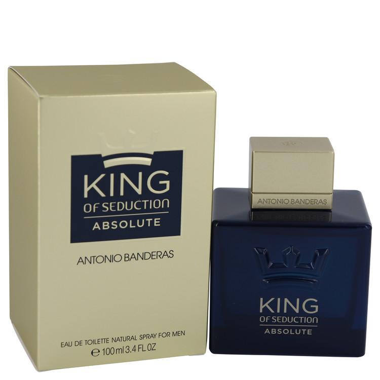King of Seduction Absolute by Antonio Banderas Eau De Toilette Spray 3.4 oz Men