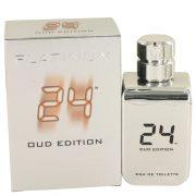24 Platinum Oud Edition by ScentStory Eau De Toilette Concentree Spray (Unisex) 3.4 oz Men