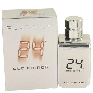 24 Platinum Oud Edition by ScentStory Eau De Toilette Concentree Spray (Unisex) 3.4 oz Men