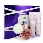 Ari by Ariana Grande Gift Set -- 3.4 oz Eau De Parfum Spray + 3.4 oz Body Lotion + 3.4 oz  Shower Gel Women