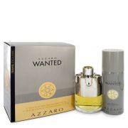 Azzaro Wanted by Azzaro Gift Set -- 3.4 oz Eau De Parfum Spray + 5.1 oz Deodarant Spray Men