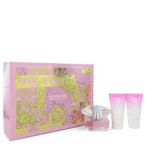 Bright Crystal by Versace Gift Set -- 1.7 oz Eau De Toilette Spray + 1.7 oz Body Lotion + 1.7 oz Shower Gel Women