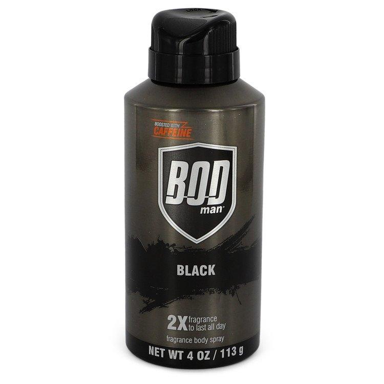 Bod Man Black by Parfums De Coeur Body Spray 4 oz Men