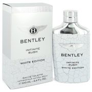 Bentley Infinite Rush by Bentley Eau De Toilette Spray (White Edition) 3.4 oz Men