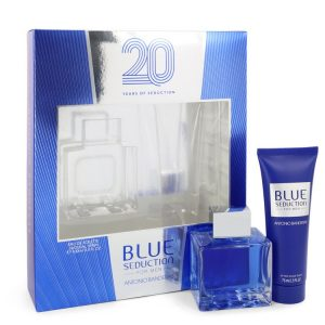 Blue Seduction by Antonio Banderas Gift Set -- 3.4 oz Eau DE Toilette Spray + 2.5 oz After Shave Balm Men