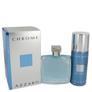 Chrome by Azzaro Gift Set -- 3.4 oz Eau De Toilette Spray + 5 oz Deodorant Spray Men
