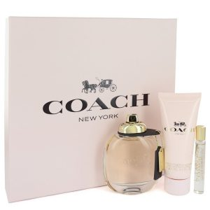 Coach by Coach Gift Set -- 3 oz Eau De Parfum Spray + .25 oz Mini EDP Spray + 3.3 oz Body Lotion Women
