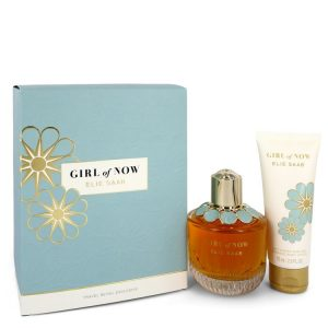 Girl of Now by Elie Saab Gift Set -- 3 oz Eau De Parfum Spray + 2.5 oz Body Lotion Women