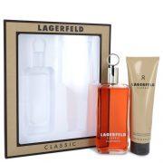 LAGERFELD by Karl Lagerfeld Gift Set -- 5 oz Eau De Toilette pray + 5 oz Shower Gel Men