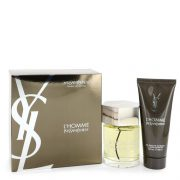 L'homme by Yves Saint Laurent Gift Set -- 3.4 oz Eau De Toilette Spray + 3.4 oz Shower Gel Men