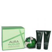 Mugler Aura by Thierry Mugler Gift Set -- 1.7 oz Eau De Parfum Spray + 1.7 oz Body Lotion + 1.7 oz Shower Milk Women