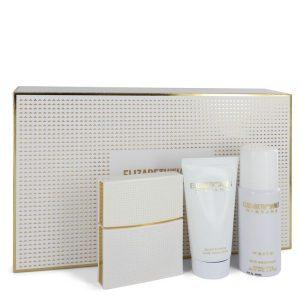 Nirvana White by Elizabeth and James Gift Set -- 1 oz Eau De Parfum Spray + 1.7 oz Body Lotion + 1.3 oz Dry Shampoo Women