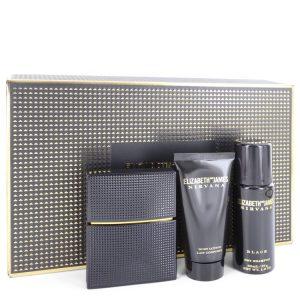 Nirvana Black by Elizabeth and James Gift Set -- 1 oz Eau De Parfum Spray + 1.7 oz Body Lotion + 1.3 oz Dry Shampoo Women