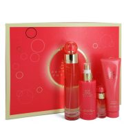 Perry Ellis 360 Coral by Perry Ellis Gift Set -- 3.4 oz Eau De Parfum Spray + .25 oz Mini EDP Spray  + 4 oz Body Mist Spray + 3 oz Shower Gel Women