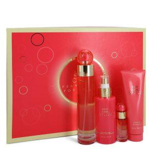 Perry Ellis 360 Coral by Perry Ellis Gift Set -- 3.4 oz Eau De Parfum Spray + .25 oz Mini EDP Spray  + 4 oz Body Mist Spray + 3 oz Shower Gel Women