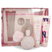 Sweet Like Candy by Ariana Grande Gift Set -- 3.4 oz Eau De Parfum Spray + 3.4 oz Body Souffle + 3.4 oz Bath & Shower Gel Women