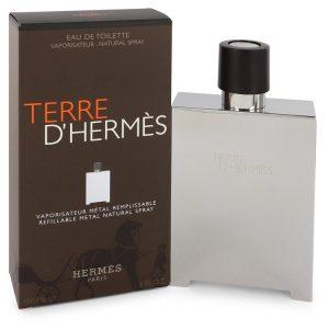 Terre D'Hermes by Hermes Eau De Toilette Spray Refillable (Metal) 5 oz Men