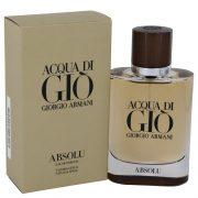 Acqua Di Gio Absolu by Giorgio Armani Eau De Parfum Spray 2.5 oz Men