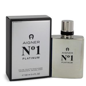 Aigner No. 1 Platinum by Etienne Aigner Eau De Toilette Spray 3.4 oz Men