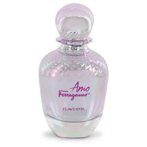 Amo Flowerful by Salvatore Ferragamo Eau De Toilette Spray (Tester) 3.4 oz Women