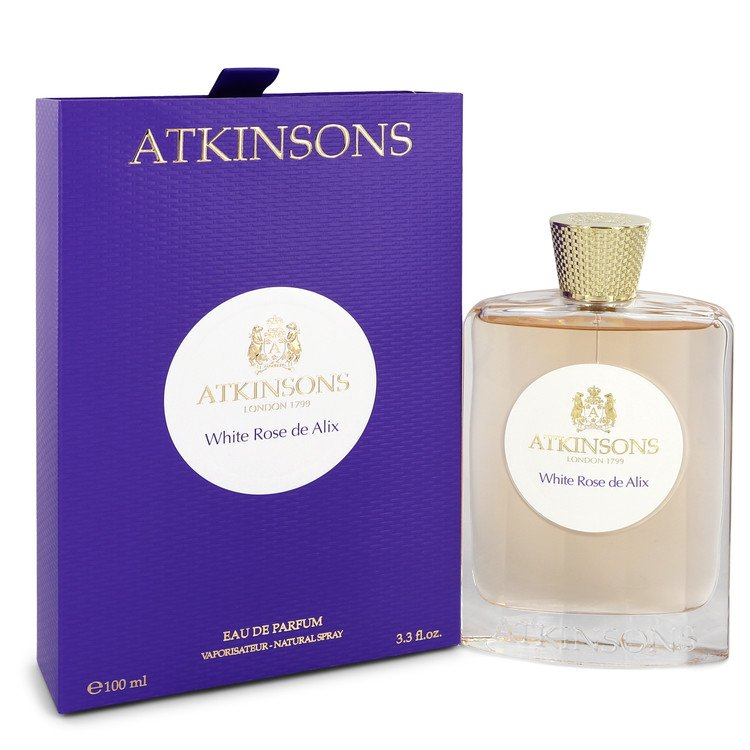 White Rose De Alix by Atkinsons Eau De Parfum Spray 3.3 oz Women