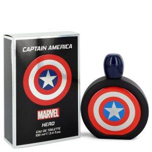 Captain America Hero by Marvel Eau De Toilette Spray 3.4 oz Men