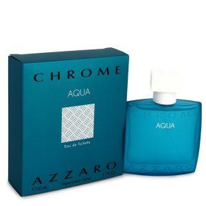 Chrome Aqua by Azzaro Eau De Toilette Spray 1.7 oz Men
